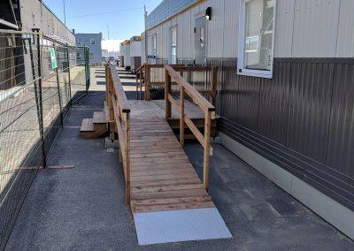 Construction rampe extérieur accessible douanes St-Bernard-de-Lacolle
